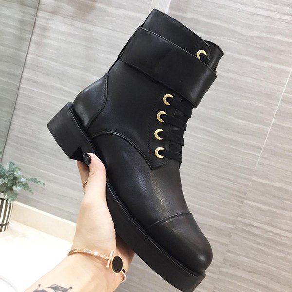 Womens Ankle Boots Shoes Genuine Leather Winter Fashion Cowboy Martin Boots Lady Boots Luxury Brand with Original Box Casual Designer Winter