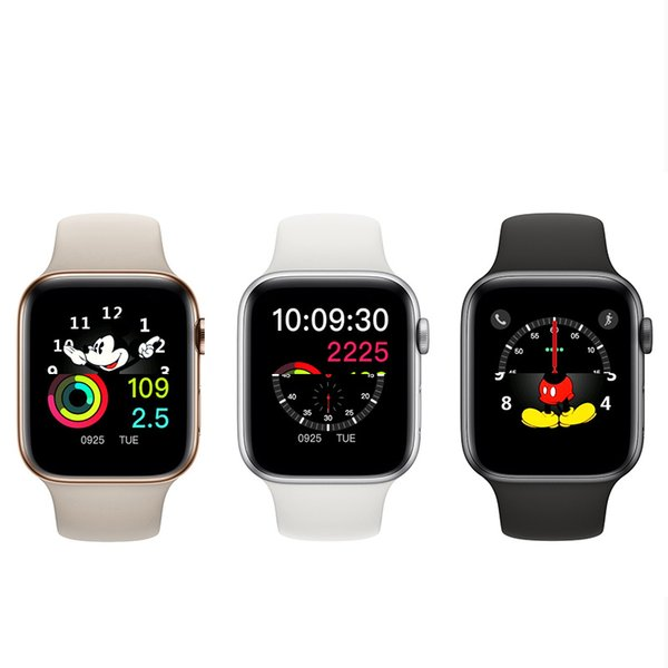 Admission magnétique de recharge sans fil Goophone Regarder 4 Wearable Smart 44mm Bluetooth 4.0 MTK2502C pour iPhone XS Max XR S10 S9 iwatch huawei