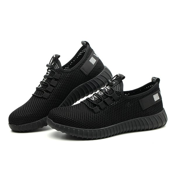 2019 summer breathable protective shoes men's steel toe caps anti-puncture work shoes wear-resistant fashion casual safety