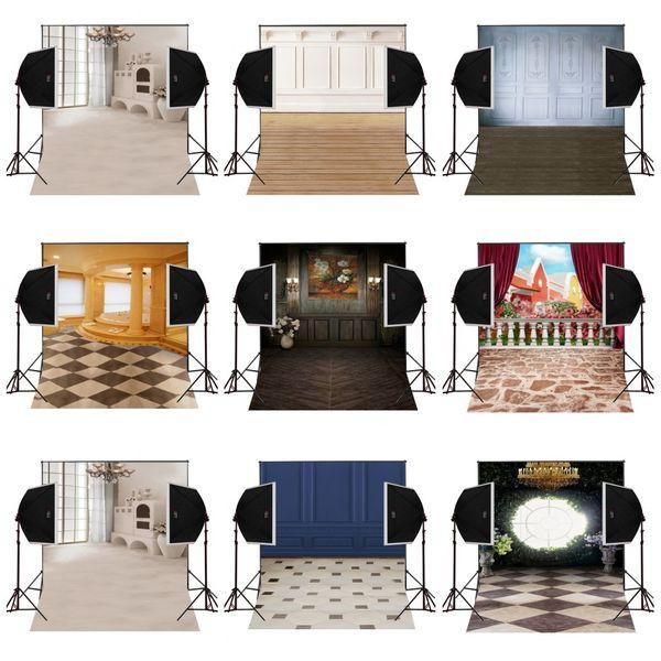 custom 5X7FT retro indoor wooden closets vinyl photography backdrop photo background digital music studio prop comunion decoracion for party