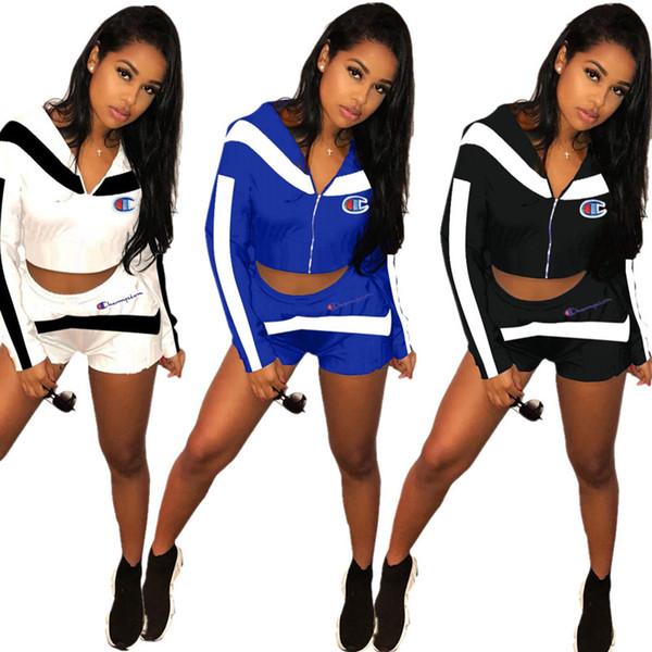 quality design c5919 e3193 Acquista Estate Abbigliamento Donna Manica Lunga Abiti 2 Pezzi Set  Pantaloncini Sexy Tuta Da Jogging Tuta Sportiva Felpa Tuta Sportiva Vestito  Klw0656 ...