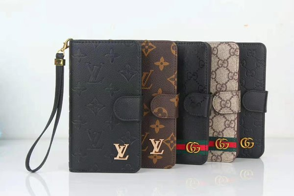 Wholesale New Luxury Wallet Case for IphoneX/XS XR XSMAX Iphone7/8Plus Ip7/8 6/6sP 6/6s Designer Wallet IPhone Case with Brand Clip Case
