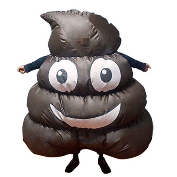 Purim gonfiabile Emoji Poop Pile costume adulto Halloween Merda feci Feci mascotte regalo Costume di Natale 1.5m-2m