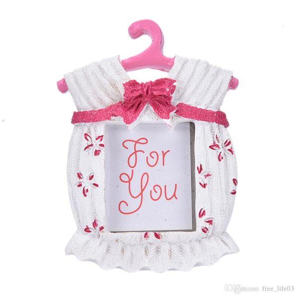 Fabrik Direkt Rosa Blau Harz Baby Kleidung Muster Baby Bilderrahmen Kleine Bilderrahmen Besten Geschenke Dekoration ester Neujahrsgeschenk