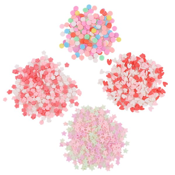 Rhinestones & Decorations About 20g Mix Candy Color 3D Round Heart Star Cherry Blossoms Snowflake Soft Clay For Nail Art DIY Decorations