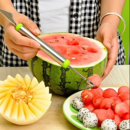 Stainless Steel Fruits Ball Digging Machine Pattern Modeling Scoop Scoop Watermelon Spoon Artifact Carving Knife Assorted Cold Dishes Tool