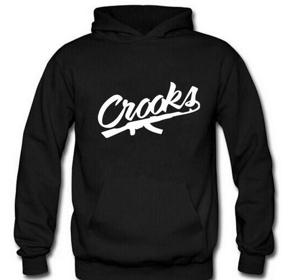 vêtements de marque Crooks et châteaux mode 2017 hoodies chaud automne hiver pulls molletonnés hommes hommes tondent hommes libres sweat à capuche