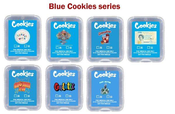 Blaue Cookies Serie