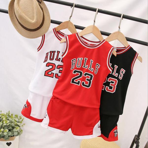 Vêtements de basket-ball d'été uniformes pour enfants 1-12T enfants survêtement à manches courtes Enfants Garçons Filles Vêtements de sport costume 2pcs
