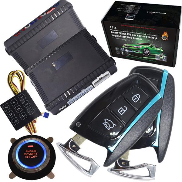 Auto universale Car Alarm Remote Engine Start Stop sistema Start gps uscita allarme uscita remoto senza chiave auto serratura centrale