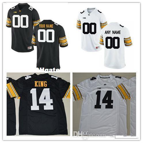 Custom Iowa Hawkeyes College Football Jersey Mens Limited white black Personalized Stitched Any Name Any Number #14 #16 #94 Jerseys XS-5XL