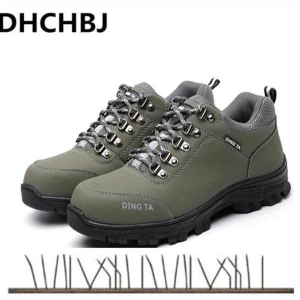 Compre 2019 Zapatos De Seguridad Para Hombre Con Punta De Acero Para Hombres Botas De Montaña Zapatos De Trabajo De Construcción Calzado Botines De