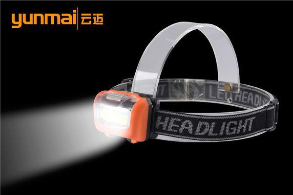 Cob Headlights Plastic Light Fari Outdoor Night Ride Alpinismo Lampada da lavoro