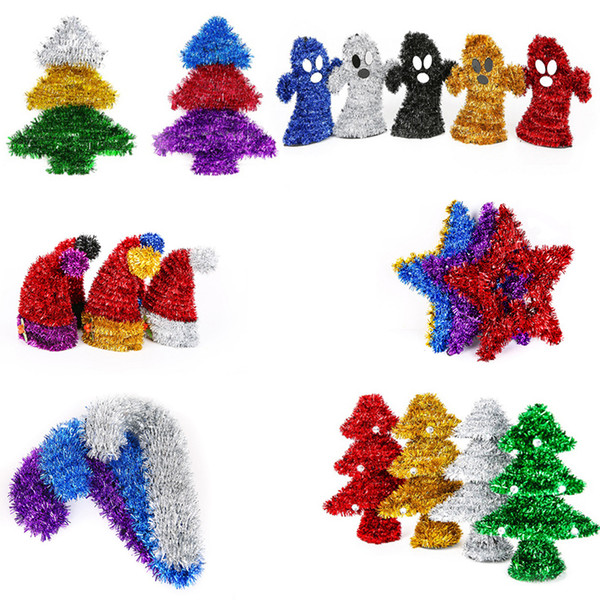 31 Styles Sparkle Strips Woven Christmas Tree Pendant Home Decor For  Ornament Holiday Home Store Bar Hanging Decor Supplies Home Decorating For  ...