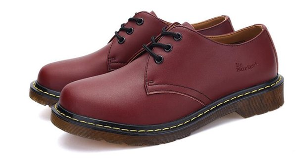 Top quality homens e mulheres clássicos sapatos De Couro Dr Martins sapatos de vestido homens mulheres designer sheos