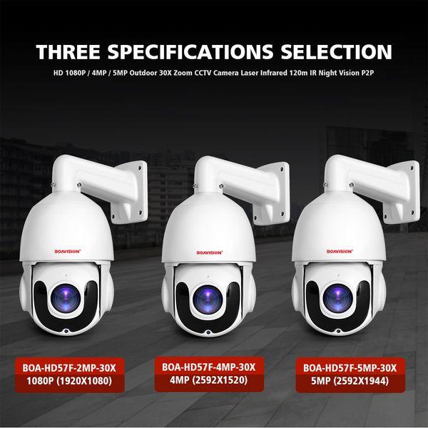 30X Zoom HD PTZ IP Camera 4MP Pan Tilt Outdoor Security Network P2P IR Night POE