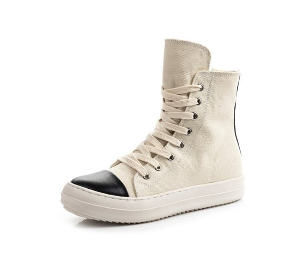 Hip Hop Women High Top Sneakers Casual Shoes Lovers Tenis Sapato Masculino Retro Platform Sneakers Basket Zipper Shoes White Shoes Wedges Shoes From