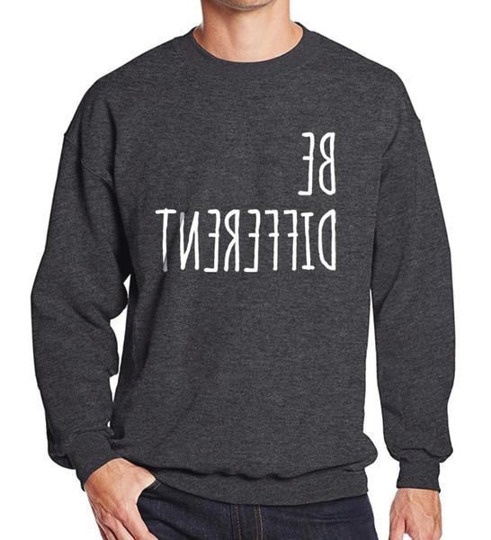 Sportswear dos homens da camisola 2019 Ser Diferente olhar único impressão homens com capuz casuais sportsman desgaste tracksuits marca-roupas