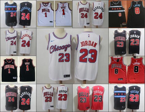 ChicagoBulls Erkekler Zach Lavine Lauri MichaelÜrdün İlNBA Basketbol Formalar Vintage Ev Derrick Rose Dikişli Formalar