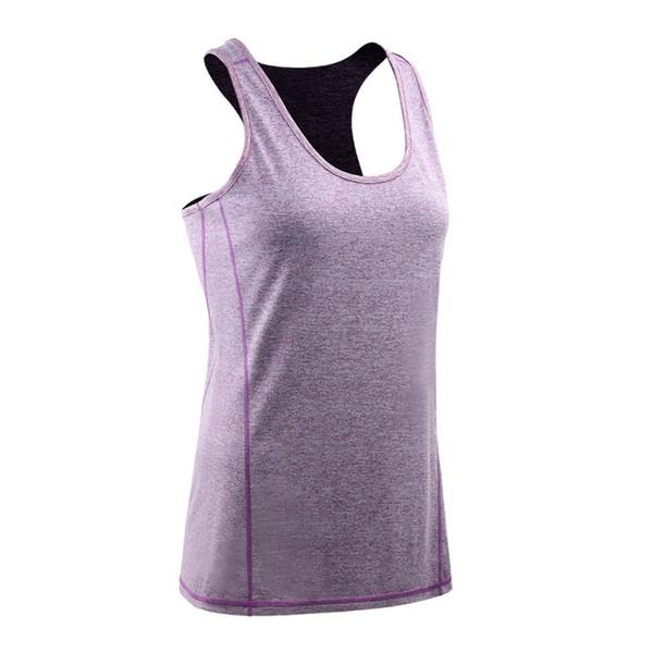 Mulheres Verão Sexy Rodada Collar Cor Sólida Correndo Estiramento Ginástica Musculação Yoga Slim Casual Vest