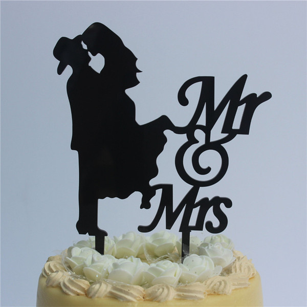 2019 Romantic Wedding Anniversary Cake Toppers Script Mr Mrs Silhouette For Ruby Wedding Anniversary Supplies From Kaishihui 16 11 Dhgate Com