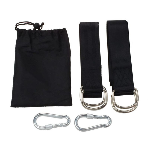 Tree Swing Hanging Kit, Two 59 inch Tree Straps with Safer Lock Snap Carabiner Hooks, Perfect for Swing & Hammocks & Disc
