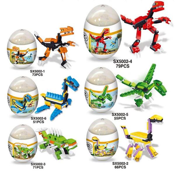 Jurassic Park Minifigures Dinosaur regalo a sorpresa in uova di dinosauro Mini figure Building Blocks Set giocattolo per bambini Mattoni