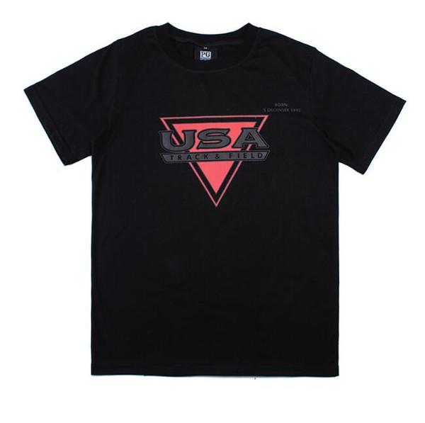 Novo Verão Camisetas Para Homens Marca Tshirts Com Letras EUA Mens clothing encabeça moda gp maré streetwear tee tamanho m-2xl