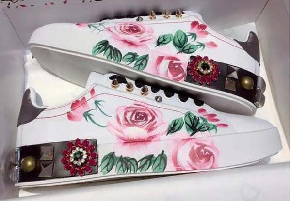 Neue Leder Wohnungen Designer Turnschuhe Frauen Klassische Casual Luxus Franch Rose Schuhe Extrem Walking Runnig Durable Chaussures dd03