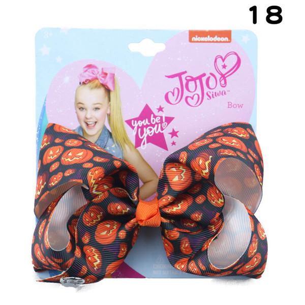 Хэллоуин джоджо сива девушки заколки для волос луки для волос джоджо сива луки детские BB клипы партия аксессуары для волос 5