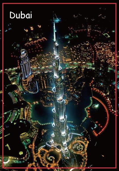 Imán del rectángulo imanes rígidos 78 * 54mm Torre Dubai imán 20140 Orden de sus recuerdos personales