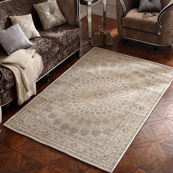 Persian Verona Distressed Accent Rug American Style Beige Color