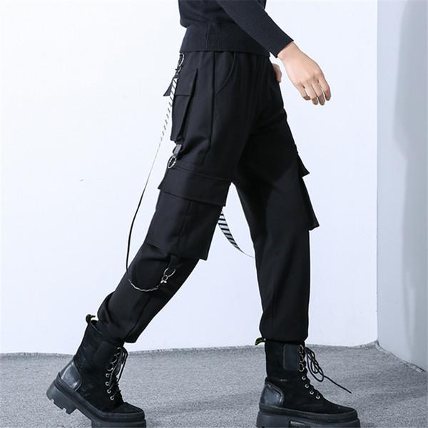 2019 Spring autumn new cargo pants women korean plus size clothes loose Streetwear leisure hip hop black harem trousers womens