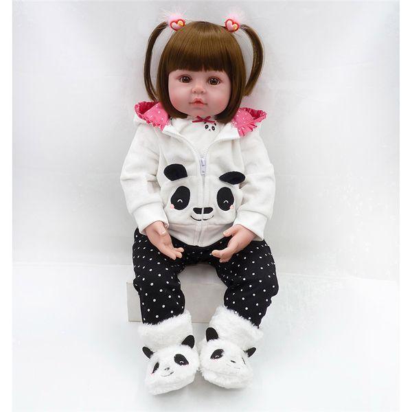 Nuevas Muñecas 24 Pulgadas Encantadora Reborn Baby Girl Doll Toddler Realistic Looking Life Like Baby Doll Vinyl Silicone Babies Regalo de Navidad
