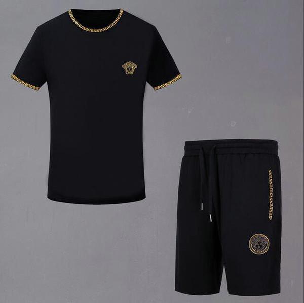 2019 Sudaderas Sweat Ropa para hombre Chándal corto Chaquetas Conjuntos de ropa deportiva Jogging Sudaderas con capucha Traje gimnasio de la abeja impreso # 13933