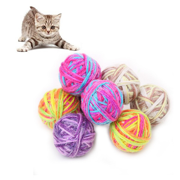 6 pcs/lot pet durable ball toys for solving boredom cats and puppy exercise toy with bells w1