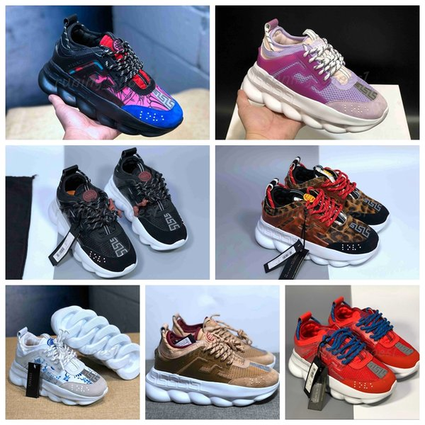 Tasarımcı Sneakers Zincir Reaksiyon Lüks Rahat üçlü Ayakkabı Mens Womens Hafif Link-Kabartmalı Sole Chaussures Homme Femme Pas Cher