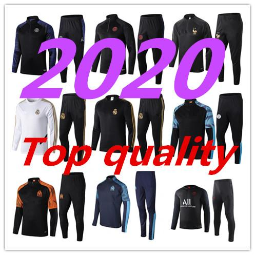 best selling psg 2020 Men football training tracksuit Real madrid soccer training suit 2019 2020 PSG MBAPPE survetement de foot chandal Football jogging