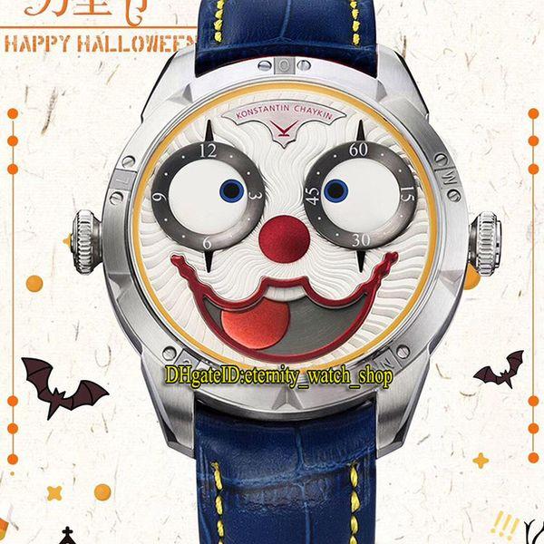 TW Son V3S Sürümü Konstantin Chaykin Ay Evresi Joker Beyaz NH35A Otomatik Mekanik Erkek İzle Deri Kayış Tasarımcı Saatler Dial