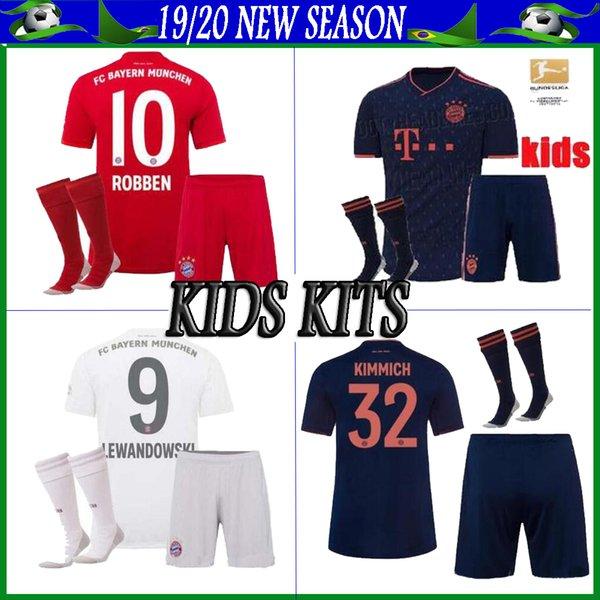 Bayern Monaco bambini 2019 2020 kit di calcio Bayern casa lontano 3RD Coutinho 10 LEWANDOWSKI 9 JAMES 11 ragazzi kit
