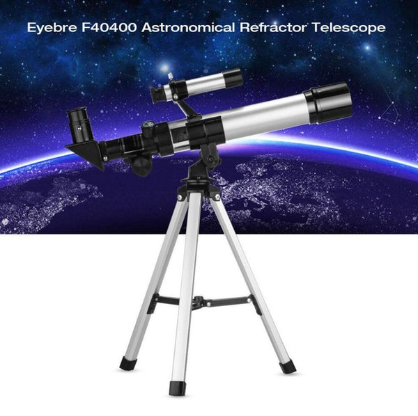 F40400 Telescopio refractario astronómico monocular de 60 mm con ocular Buscador de estrellas