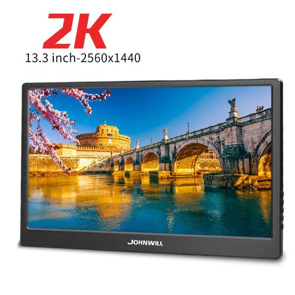 13,3-дюймовый CNC металл Портативный монитор 2K 2560 * 2440 IPS экран HD дисплей с 2 HDMI USB DC Интерфейс для HDMI PS4 XBOX One игры