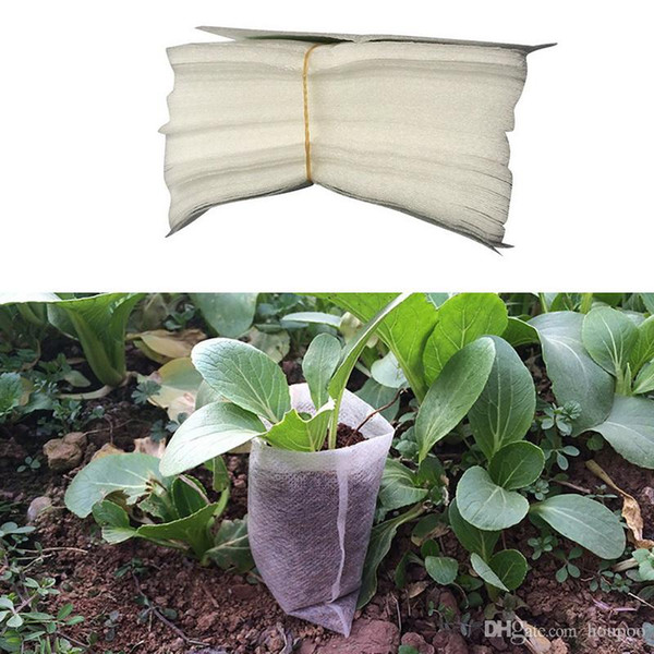 Non-Woven Fabric Flower Pots NO Handles Planting Bag for Seeds Grow Tents Garden Decor Greenhouse Fairy Garden Miniatures