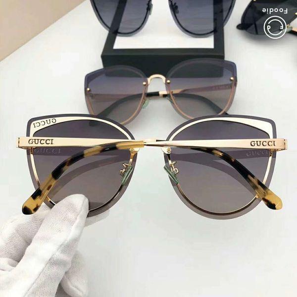 Lüks Güneş tasarımcı güneş gözlüğü marka G72023 Kedi Göz tasarımcı gözlük Kadın Gözlük UV400 için 5 renkler ile Opsiyonel Kutusu Yüksek kalite