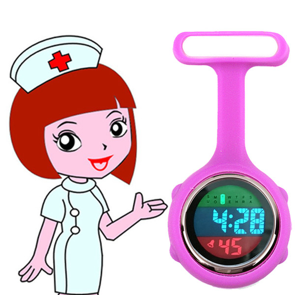 silicone rubber nurse multi-function watch women ladies doctor medical hospital digital FOB pocket Electronic watches