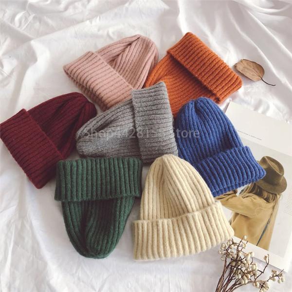 Warm Kids Baby Winter Hats For Kid Children Knitted Baby Boy Cap Kid Girls Hat Casquette Bonnet Wholesale