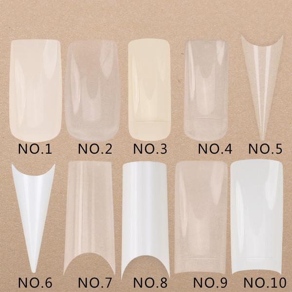 500 Teile / satz Transparent Weiß Falsch Nail art Design Tipps Französisch Acryl Polnischen UV Gel Aufkleber Salon Design Maniküre Werkzeuge