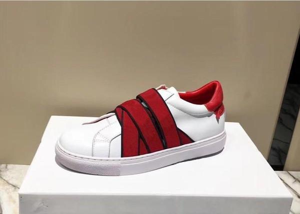 erkekler kadınlara YENİ tasarımcı spor ayakkabısı 4G dokuma beyaz deri spor ayakkabı paris imza ve knot eğitmenler 35-44 boyutu