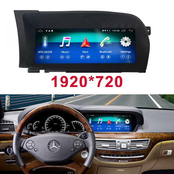 10 25 Android 4+64G Car Radio Bluetooth GPS Navigation Head Unit Display  For Mercedes Benz W221 2006 2013 S65 SG5 AMG S280 S550 Cars Pc Cars Pc  Spiel