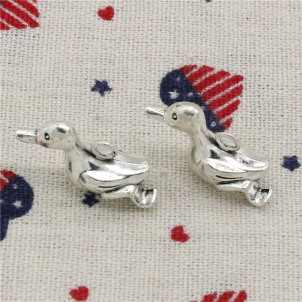 54pcs Charms duck 28*14*10mm Pendant, Tibetan Silver Pendant,For DIY Necklace & Bracelets Jewelry Accessories